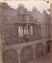 East range of the Mor Chowk, City Palace, Udaipur